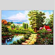 billiga Landskapsmålningar-Hang målad oljemålning HANDMÅLAD - Landskap Moderna Duk