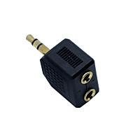 billiga Headsets och hörlurar-Hörlursadapter Plastskal Svart 1 pcs
