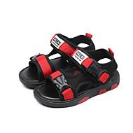 baratos Sapatos de Menino-Para Meninos Sapatos Tule / Couro Ecológico Verão Conforto Sandálias Caminhada Presilha para Infantil Preto / Azul Escuro / Vermelho
