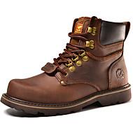 baratos Sapatos Masculinos-Homens Fashion Boots Pele Outono / Inverno Conforto / Botas Cowboy / Country / Botas da Moda Botas Café / Castanho Claro / Festas & Noite