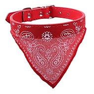 Honden / Konijnen / Katten Kraag / blafhalsband draagbaar / waterdicht / Mini Geometrisch PU-leer / Polyurethaan Leer Rood / Blauw / Roze