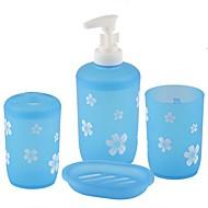 Χαμηλού Κόστους Σετ αξεσουάρ μπάνιου-Σετ αξεσουάρ μπάνιου Νεό Σχέδιο / Πολυλειτουργία Σύγχρονο Πλαστικά 4pcs - Μπάνιο Μονό
