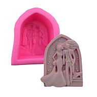 billige Bakeredskap-Bakeware verktøy Silikongel 3D-tegneseriefigur / Smuk / Kreativ Kake / spirende Cube Cake Moulds 1pc