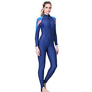 Dive&Sail 女性用 ダイブスキンスーツ SPF50, UVサンプロテクション, 速乾性 スパンデックス / ポリアミド フルボディー スイムウェア ビーチウェア ダイビングスーツ 潜水 / サーフィン / シュノーケリング