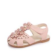 baratos Sapatos de Menina-Para Meninas Sapatos Couro Ecológico Primavera Verão Conforto Sandálias Caminhada Vazados para Branco / Verde / Rosa claro