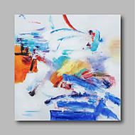 voordelige -Hang-geschilderd olieverfschilderij Handgeschilderde - Abstract Hedendaags / Modern Kangas