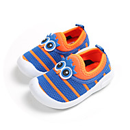 baratos Sapatos de Menina-Para Meninas Sapatos Tricô Primavera Verão Mocassim Mocassins e Slip-Ons Caminhada Flor para Bébé Preto / Fúcsia / Azul