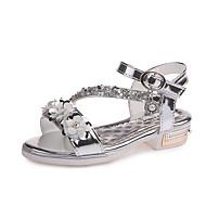 baratos Sapatos de Menina-Para Meninas Sapatos Couro Ecológico Verão Conforto / Sapatos para Daminhas de Honra Sandálias Caminhada Gliter com Brilho / Flor / Velcro
