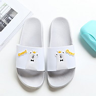 baratos Chinelos-Chinelos de Mulher Chinelos / Pantufas Pele PVC Cor Única