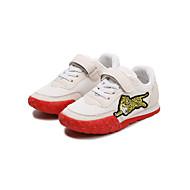 baratos Sapatos de Menina-Para Meninas Sapatos Camurça / Tule Primavera Verão Conforto Tênis Caminhada Estampa Animal / Velcro para Infantil Branco / Preto /