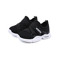 baratos Sapatos de Menina-Para Meninas Sapatos Tule / Couro Ecológico Primavera Verão Conforto Mocassins e Slip-Ons Caminhada Velcro para Infantil Branco / Preto /