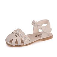 baratos Sapatos de Menina-Para Meninas Sapatos Couro Ecológico Primavera Verão Conforto Sandálias Pérolas Sintéticas / Velcro para Bege / Cinzento / Rosa claro
