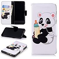 billiga Mobil cases & Skärmskydd-fodral Till Samsung Galaxy A8 2018 Plånbok / Korthållare / med stativ Fodral Panda Hårt PU läder för A8 2018