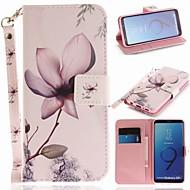 billiga Mobil cases & Skärmskydd-fodral Till Samsung Galaxy S9 Plånbok / Korthållare / med stativ Fodral Blomma Hårt PU läder för S9