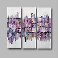 billiga Abstrakta målningar-Hang målad oljemålning HANDMÅLAD - Abstrakt / Landskap Samtida Duk