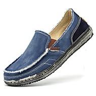 tanie Obuwie męskie-Męskie Komfortowe buty Jeans Lato Mokasyny i buty wsuwane Ciemnoniebieski / Szary / Khaki
