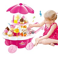 cheap Dress Up & Pretend Play-Toy Kitchen Set Pretend Play Ice Cream Sweet Candy Shop Plastic Shell Preschool Toy Gift 39 pcs