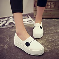 baratos Sapatos Femininos-Mulheres Sapatos Couro Ecológico Primavera Conforto Mocassins e Slip-Ons Sem Salto Preto / Cinzento / Vermelho