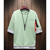 男性用 Tシャツ ラウンドネック カラーブロック