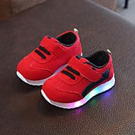 baratos Sapatos de Menina-Para Meninas Sapatos Com Transparência / Couro Ecológico Primavera Verão Conforto Tênis Caminhada LED para Infantil Preto / Vermelho / Rosa claro