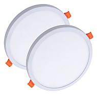 billige Innfelte LED-lys-ZDM® 2pcs 8 W 40 LED Nytt Design / Lett installasjon / Nedfellt Panellys / Led-Nedlys Varm hvit / Kjølig hvit 85-265 V Kommersiell / Hjem / kontor