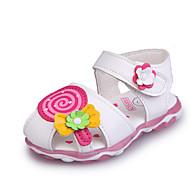 tanie Obuwie dziewczęce-Dla dziewczynek Obuwie PU Lato Wygoda / Lekkie podeszwy Sandały Spacery na Dziecięce Biały / Różowy