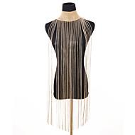 Kadın's Yaka Uzun İfade Bayan Vintage alaşım Altın Gümüş 28 cm Kolyeler Mücevher 1pc Uyumluluk Parti Bikini