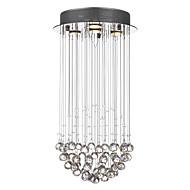 billige -SL® 4-Light Vedhæng Lys Baggrundsbelysning - Krystal, 110-120V / 220-240V Pære Inkluderet / GU10 / 20-30㎡