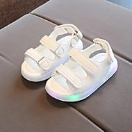 baratos Sapatos de Menino-Para Meninos / Para Meninas Sapatos Couro Ecológico Primavera & Outono Tênis com LED Sandálias Velcro / LED para Preto / Amarelo / Rosa claro