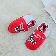 tanie Obuwie dziewczęce-Dla dziewczynek Obuwie Zamsz Zima Buty do nauki chodzenia Mokasyny i pantofle na Dziecięce Czerwony