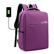 billige Computertasker-Lærred Laptoptaske Lynlås Grå / Lilla / Mørkegrå
