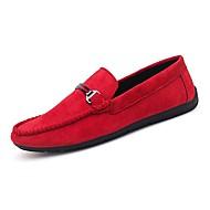 baratos Sapatos Masculinos-Homens Mocassim Camurça Outono Mocassins e Slip-Ons Preto / Cinzento / Vermelho