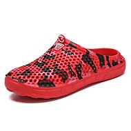 baratos Sapatos Masculinos-Homens EVA Outono / Primavera Verão Conforto Tamancos e Mules Côr Camuflagem Cinzento / Marron / Vermelho