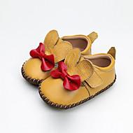 baratos Sapatos de Menina-Para Meninas Sapatos Pele Verão Primeiros Passos Tênis Laço / Velcro para Bebê Laranja / Amarelo / Rosa claro