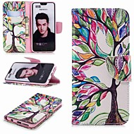 billiga Mobil cases & Skärmskydd-fodral Till Huawei Honor 10 / Honor 7A Plånbok / Korthållare / med stativ Fodral Träd Hårt PU läder för Honor 8 / Honor 7X / Honor 7C(Enjoy 8)