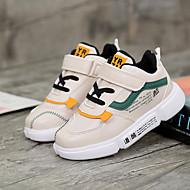 baratos Sapatos de Menina-Para Meninas Sapatos Couro Ecológico Primavera Verão Conforto Tênis Caminhada para Adolescente Preto / Khaki