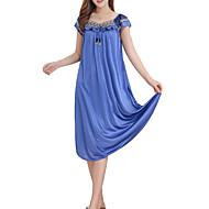 Mujer Escote en V Profunda Bata Pijamas Un Color / Sexy