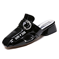 baratos Sapatos Femininos-Mulheres Sapatos Couro Ecológico Verão D'Orsay Tamancos e Mules Salto Robusto Branco / Preto / Bege