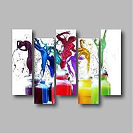 halpa -Hang-Painted öljymaalaus Maalattu - Abstrakti / Ihmiset Comtemporary / Moderni Kangas