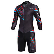 Malciklo Bărbați Manșon Lung Costum - Negru Englezesc camuflaj Bicicletă Respirabil Uscare rapidă Iarnă Sport Coolmax® Lycra Clasic triatlon Îmbrăcăminte / Înaltă Elasticitate / Avansat / Avansat