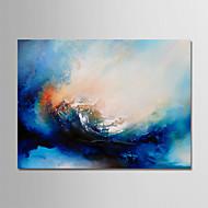 olcso -Hang festett olajfestmény Kézzel festett - Absztrakt Modern Anélkül, belső keret / Hengerelt vászon