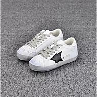 baratos Sapatos de Menino-Para Meninos / Para Meninas Sapatos Couro Envernizado Primavera Conforto Tênis Cadarço para Branco / Rosa claro