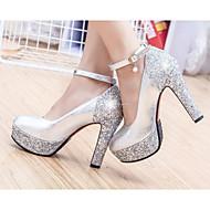 cheap -Women's PU(Polyurethane) Summer Comfort / Basic Pump Heels Stiletto Heel Gold / Silver / Daily