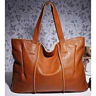 tanie Torby na ramię-torebki damskie skórzane torby na ramię nappa zamykane na zamek / migdałowe / czarne