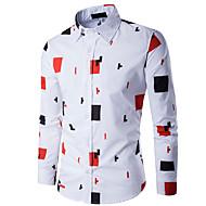Herre - Geometrisk Trykt mønster Skjorte