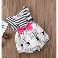 Baby Pige Aktiv / Basale Trykt mønster Uden ærmer Bomuld / Polyester Bodysuit Hvid