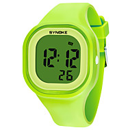 SYNOKE Men's / Women's Sport Watch / Digital Watch Calendar / date / day / Chronograph / Water Resistant / Water Proof Silicone Band Fashion Black / White / Blue / Stopwatch / Noctilucent