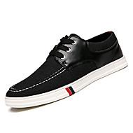 baratos Sapatos Masculinos-Homens Jeans / Couro Ecológico Primavera Conforto Tênis Preto / Azul Escuro