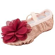 billige Ballettsko-Jente Ballettsko Syntetisk Høye hæler Blomst Flat hæl Dansesko Gull