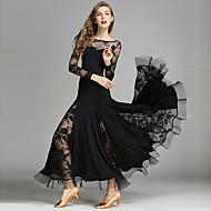 Επίσημος Χορός Φορέματα Γυναικεία Επίδοση Δαντέλα / Βισκόζη Πιασίματα Μακρυμάνικο Φυσικό Φόρεμα / Μοντέρνος Χορός